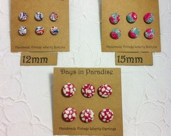 Custom Made Liberty Fabric Covered Buttons