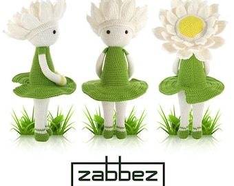 "Crochet pattern amigurumi doll ""Water Lily Winnie"" PDF"