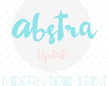 Calligraphy Font Download Watercolor Font Modern Abstra