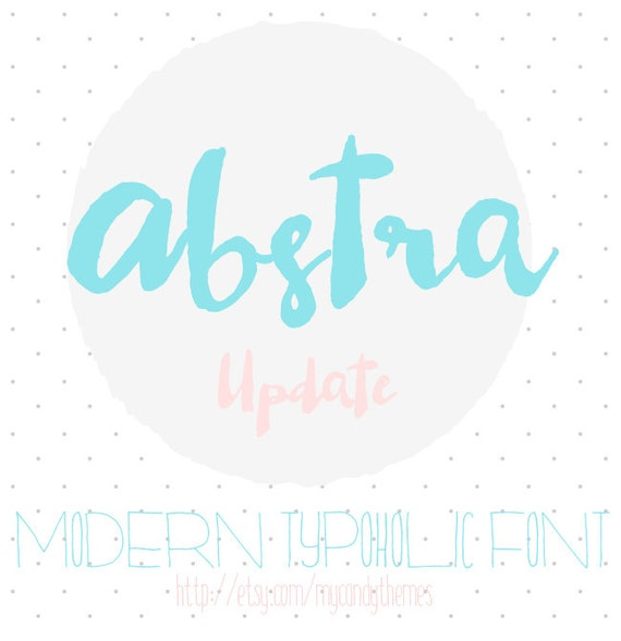 Calligraphy font download watercolor modern abstra