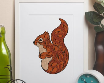 Alphabet Animals - S is for Squirrel framed print