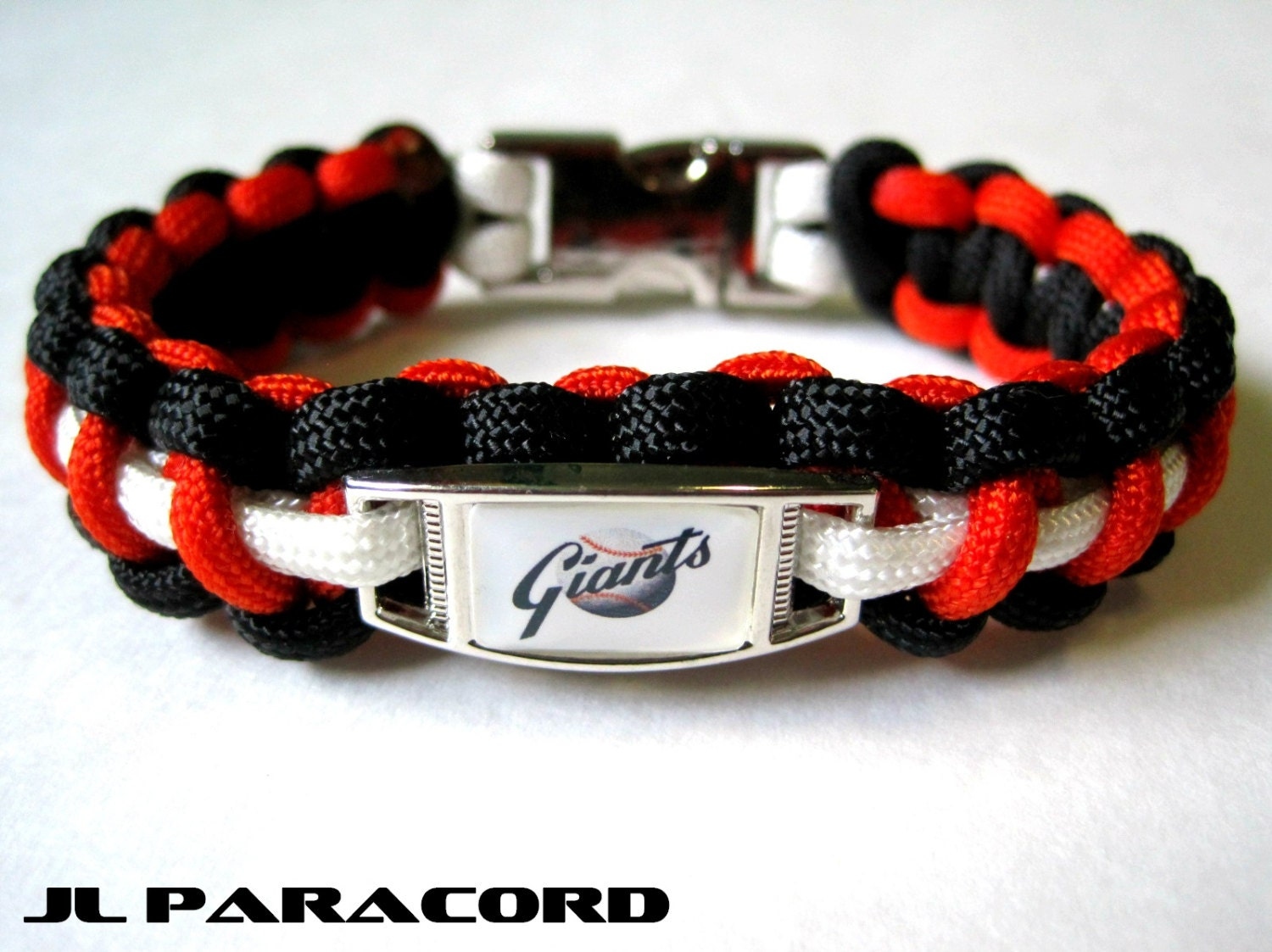 deluxe sf giants paracord charm bracelet by jlparacordgear