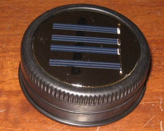 Mason Jar Solar Lid Light - Great for Projects and Crafts - Black