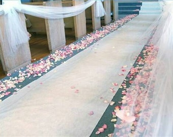 """ivory burlap aisle runner / 46"""" inches wide/ custom length available"""