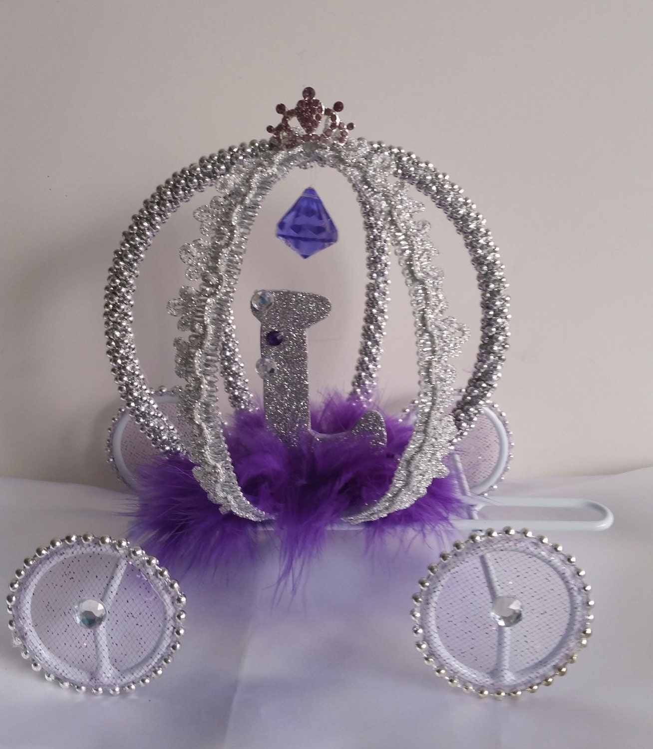 Disney inspired Cinderella Carriage Cake Topper Quinceanera