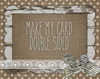 Make my card double sided!