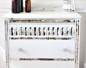 Hand Painted Petite Vintage Dresser in MMS Ironstone
