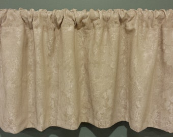 "Clearance Curtain Valance - One Unlined Curtain Valance. 48"" x 16""  Window treatments"