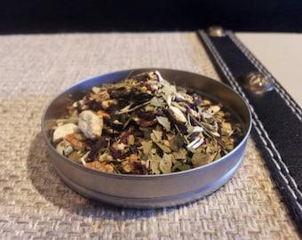Burgundy Yerba loose leaf tea