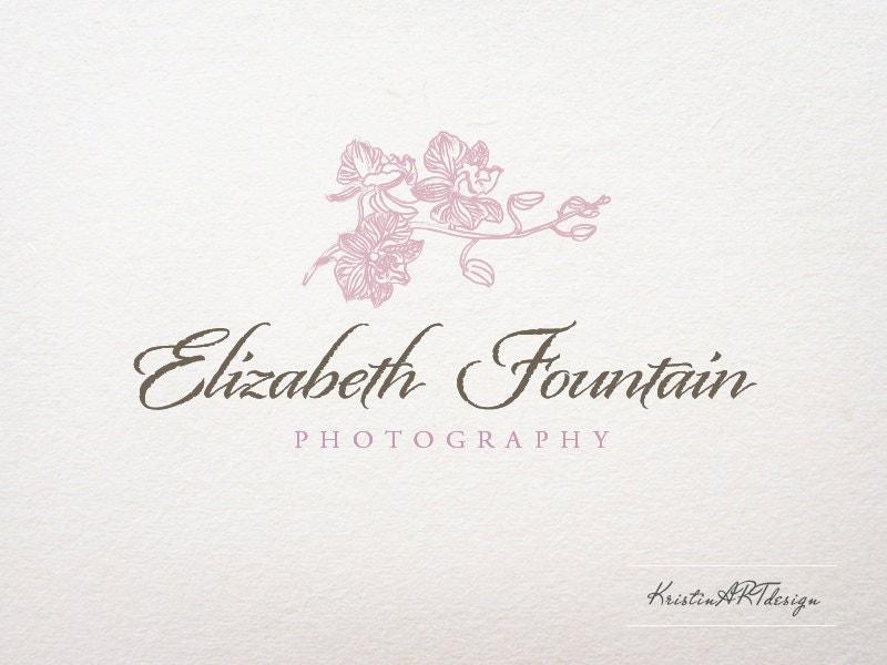 Orchid Logo Design Photography Wedding
