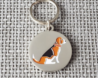 Beagle dog tag / keyring