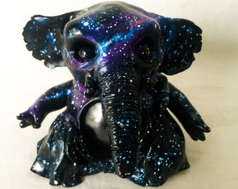 Galactic Galaxy Space Elephant Stash Jar or Keepsake Jar