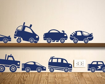 Car Wall Sticker Set