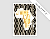 African art print, printed poster of map africa, paper goods wall art, art illustration poster