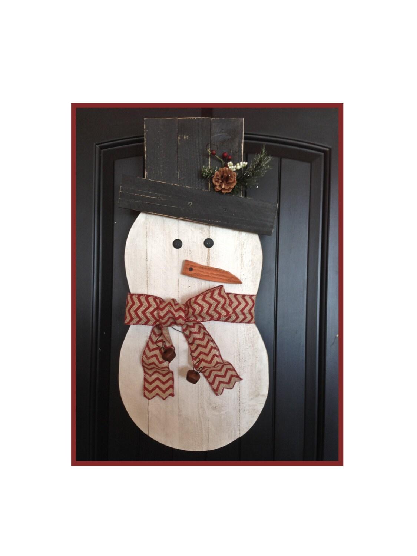 Snowman, holiday snowman, reclaimed wood, front door decor, rustic snowman, Christmas