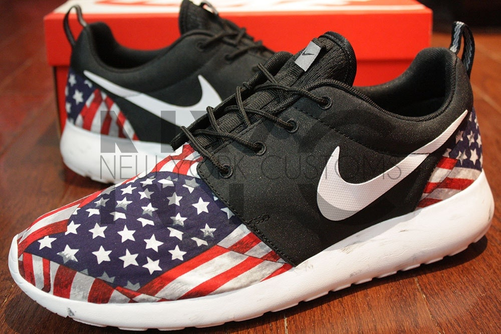 Restocked Sizes Nike Roshe Run Black Marble American By