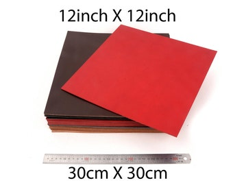 12in X 12in (30cm X 30cm ) Size, Italian genuine vegetable leather,Vegetable tanned leather hides-LTCMLT-0806