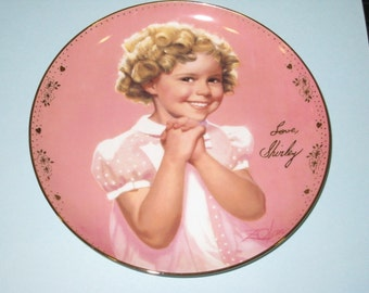 Shirley Temple Danbury Mint PRECIOUS Porcelain Collector Plate 1995 Limited Edition