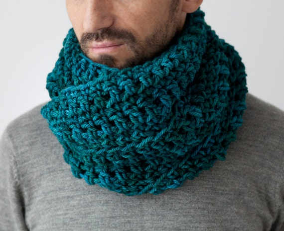 Mens Cowl Knitting Pattern : Items similar to mens cowl, mens scarf, chunky knitted neck warmer,...