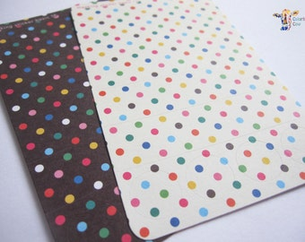Colorful polka dot pattern paper stickers