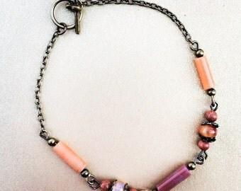 Dulce de Leche Boho Beaded Bracelet