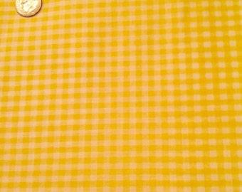 Yellow Gingham lightweight fabric