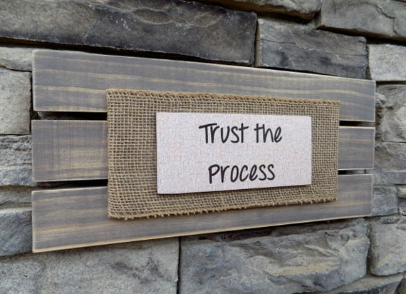 Items Similar To Trust The Process/Rustic Sign/Wood Sign