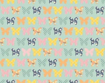 Riley Blake A Beautiful Thing Butterflies Blue (Half metre)
