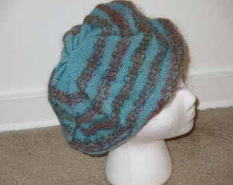 Mohair beret for style and warmth!
