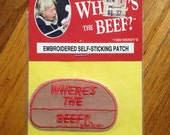 "Wendys ""Where's the Beef?"" Vintage Patch 1984 Ad"