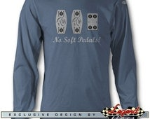 AC Shelby Cobra No Soft Pedals Long Sleeves T-Shirt - Lights of Art - Multiple colors avail. - Size: S - 3XL - AC Cobra & Replica Roadsters