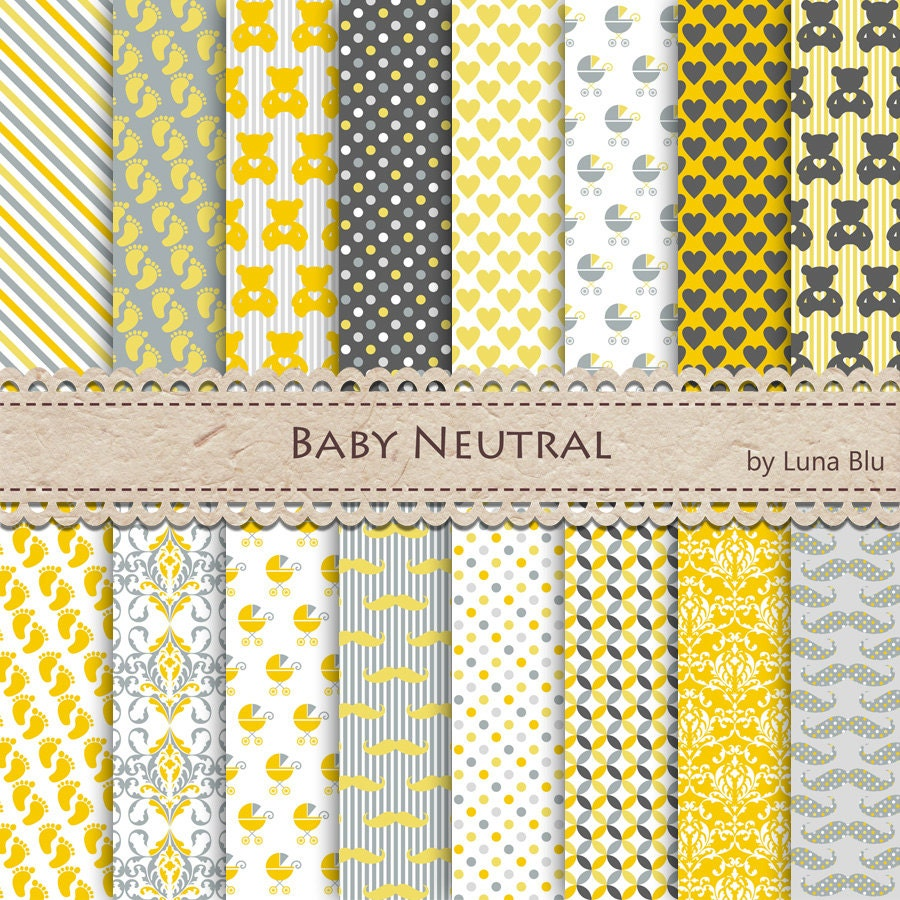 New Item Added To My Shopbaby Digital Paper Pack Neutral Gender