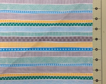 Sweet & Sassy from Quilting Treasures Colorful stripes quilting cotton - 1 yd