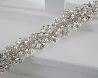 Wedding Belt, Bridal Belt, Sash Belt, Crystal Rhinestone, Style 173