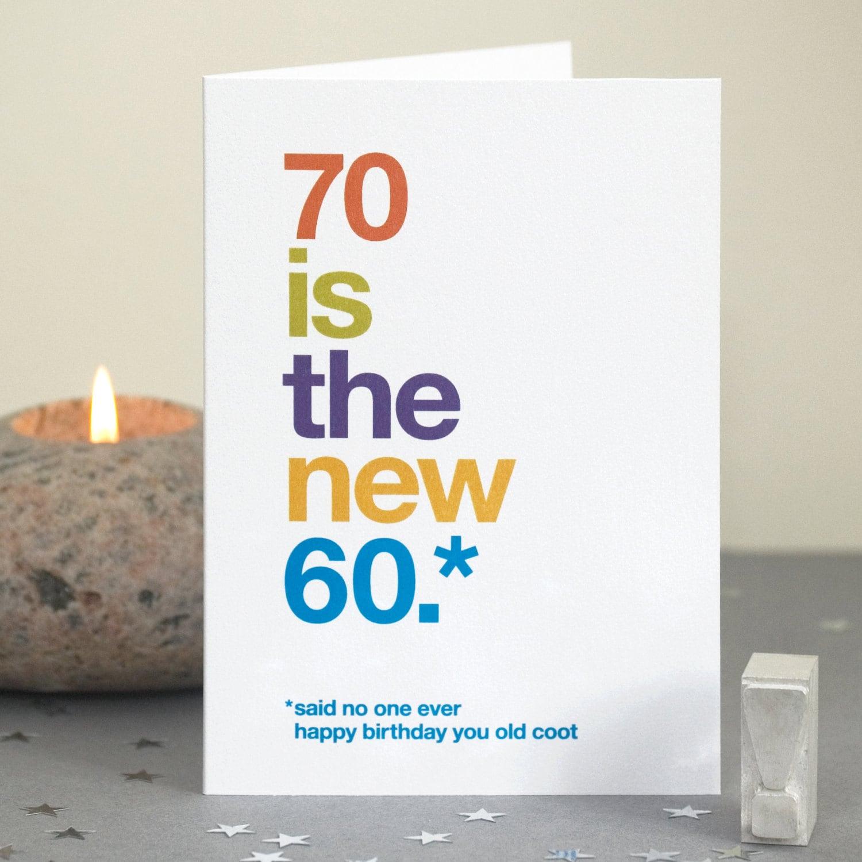 Funny 70th Birthday Card 70 Card Sarcastic 70th Birthday – 70 Birthday Cards