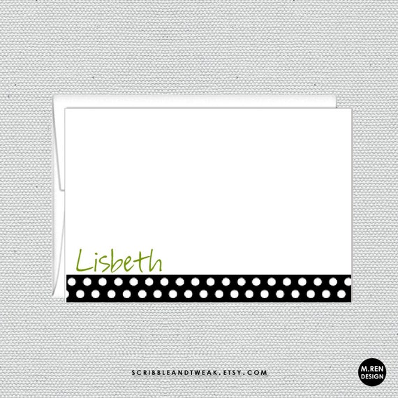 27 Personalized Stationery Templates: Correspondence Cards With Matching Envelopes By