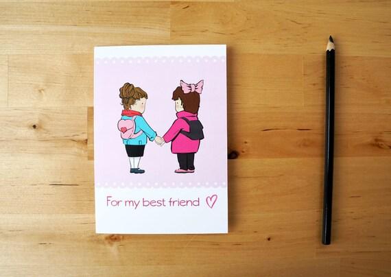 Auguri Matrimonio Migliore Amica : Per la mia migliore amica biglietto d auguri illustrato