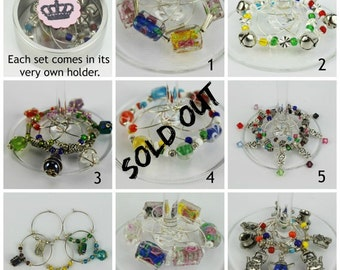 Wine Glass Charms, Wine Charms, Wine Stem Charms, Wine Glass Tags, Wine Glass Markers, Wine Glass Labels, Stemware Charms, Beverage Markers