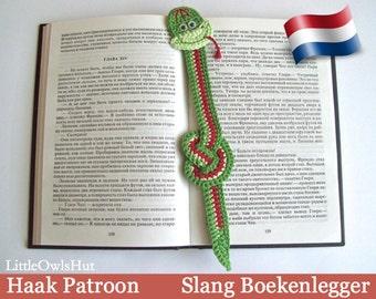 014NLY Slang Boekenlegger - Amigurumi Haakpatroon - PDF by Zabelina Etsy