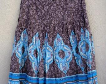 Vintage Skirt / Hipster Skirt / Boho Skirt / Festival Skirt / Vintage 70s Knee Hippie Skirt Gypsy Style / Boho Chic / 70s Skirt /70s fashion