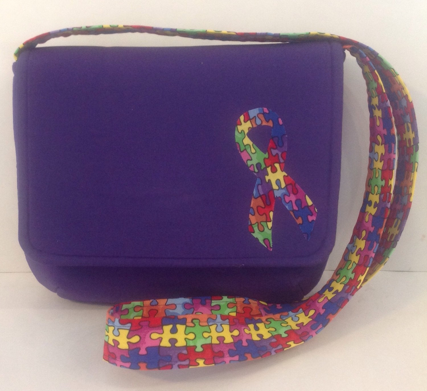 Autism Awareness Purse Puzzle Pieces Purse By Penguinpouches