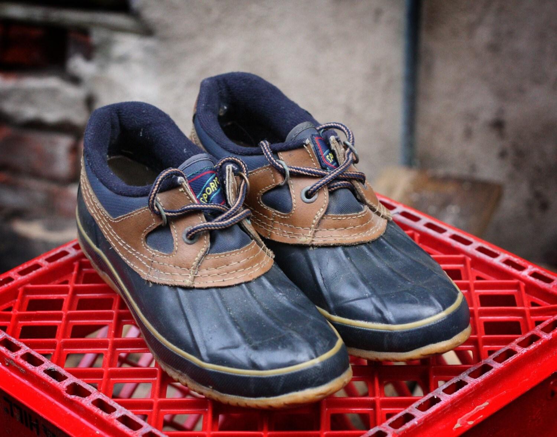 sporto duck boots low top s size 7 by hiddenriverfindsco