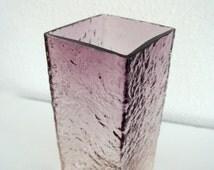 Vintage Oy Kumela glass vase Riihimäen Lasi Oy / Riihimaki 1960's 1970's pentti sarpaneva Kai Blomquist