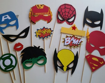 Super Heros Photo Booth Props