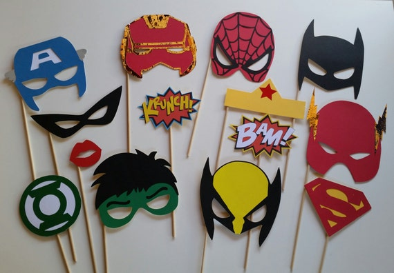 Fabulous Super Heros Photo Booth Props JQ27