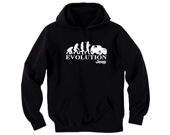 Jeep inspired apparel Jeep evolution black man/women pullover hoodie