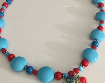Colorful, fun beaded necklace