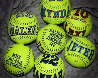 Customized Softballs & Baseballs