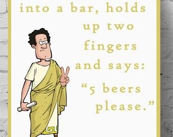 Maths Poster - Roman Numerals Joke