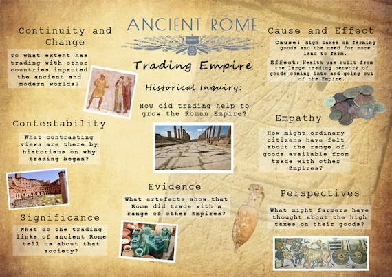 Printable ancient rome history poster trading empire for Ancient greek cuisine history